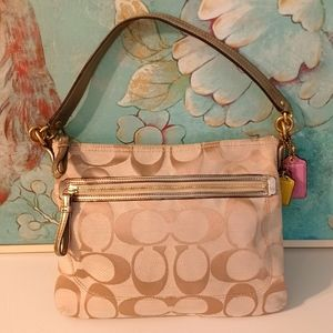 Coach signature canvas & patent leather purse